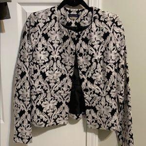 Timmy Hilfiger black and white waist blazer size 2